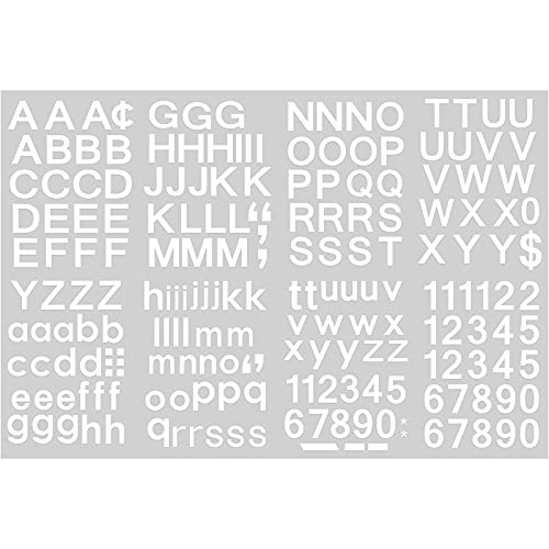 202 Pieces Self-Adhesive Vinyl Letters Numbers Kit, Mailbox Numbers Sticker for Mailbox, Signs, Window, Door, Cars, Trucks, Home, Business, Address Number (White,1/2 Inch)