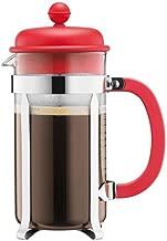 BODUM Caffettiera 8 Cup French Press Coffee Maker, Red, 1.0 l, 34 oz