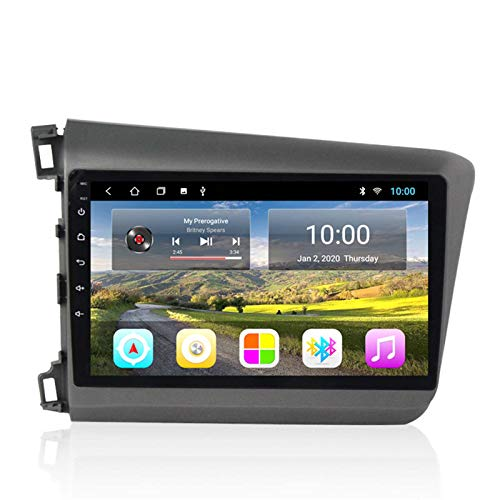 GPS 2G + 32GB Coche GPS Navigation Car Multimedia Touch Pantalla Táctil DVD Para 12-15 Honda Civic GPS Navegación, Notificación De Voz De Diversas Condiciones De Tráfico, Actualización De Mapa