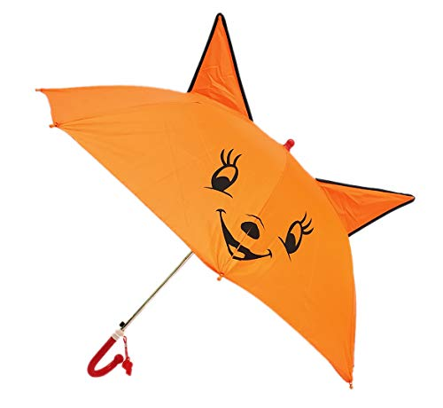 Rainpopson Kids Umbrella for Boys and Girls/Animal Design Ear Style Kids Umbrella Multicolour (Pack of 1) (Made in India)