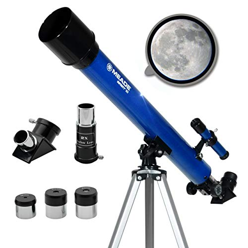 Meade Instruments – Infinity 50mm Aperture, Portable Refracting Astronomy Telescope for Kids & Beginners – Multiple Eyepieces & Accessories Included – View The Moon & Have Fun Learning About Space!
