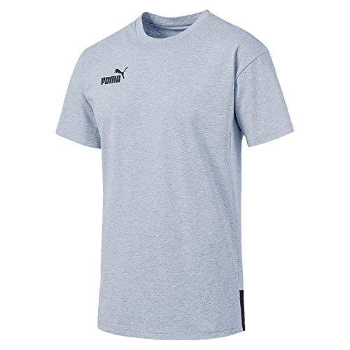 PUMA Ftblnxt Casuals tee Camiseta, Hombre, Grey Dawn-Ebony, XXL