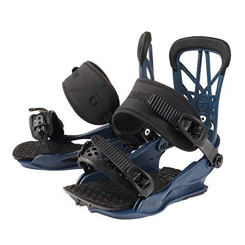 Union - Fijaciones de snowboard Flite para hombre, color azul