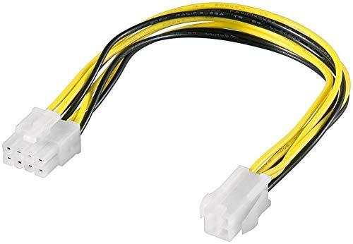 PremiumCord Netzteil 8-Polig/männlich an P4 4-polig/Buchse, kn-16