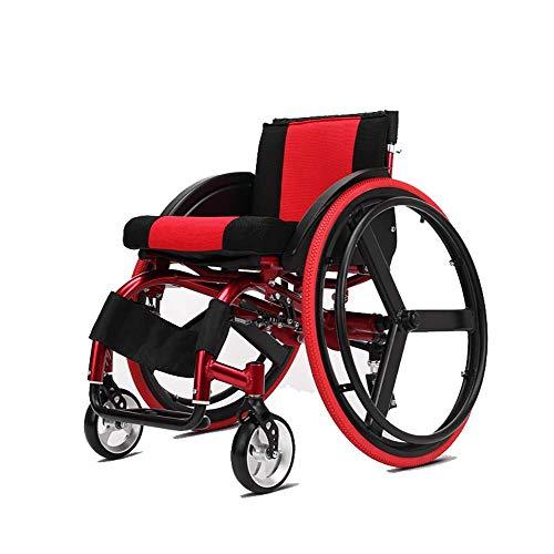 Y-L Älterer Untauglicher Rollstuhl, Sportlicher Leichter Untauglicher Rollstuhl-Vierrädriger Roller-Fahrrad-Ultra Leichter Sport-Konkurrenzfähiger Rollstuhl