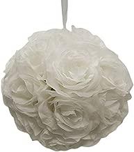 Firefly Imports Homeford Flower Kissing Balls Pomander Pom Pom Wedding Centerpiece, White