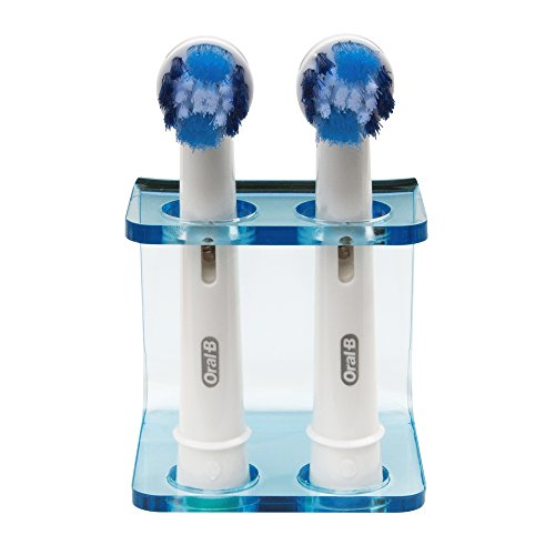 Seemii Zahnbürstenkopf Halter für Elektrische Zahnbürste Köpfe, Clear Blue Acryl, 2 Kopfhalterung, passend für Oral-B