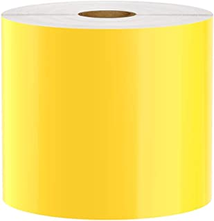 Premium Vinyl Label Tape for DuraLabel, LabelTac, VnM, SafetyPro and Others, Yellow, 4