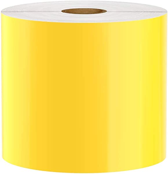 Premium Vinyl Label Tape For DuraLabel LabelTac VnM SafetyPro And Others Yellow 4 X 150