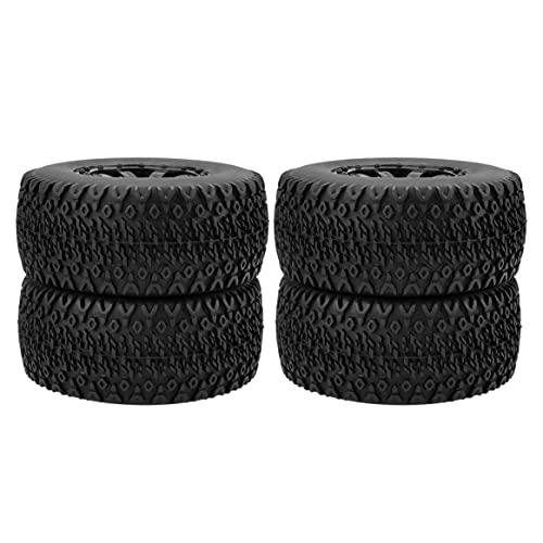 Yixikejiyouxian Durable RC Wheel 1:10 Juego de neumáticos de camión de Recorrido Corto 12 mm Hub Hexagonal para Traxxas Slash HPI VKAR Redcat HSP - Negro 10043