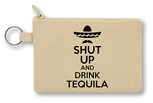 Shut Up and Drink Tequila portemonnee met ritssluiting