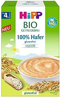 Hipp Bio-Getreide-Breie ungesüßt, 100% Hafer, glutenfrei, 6er Pack 6 x 200 g