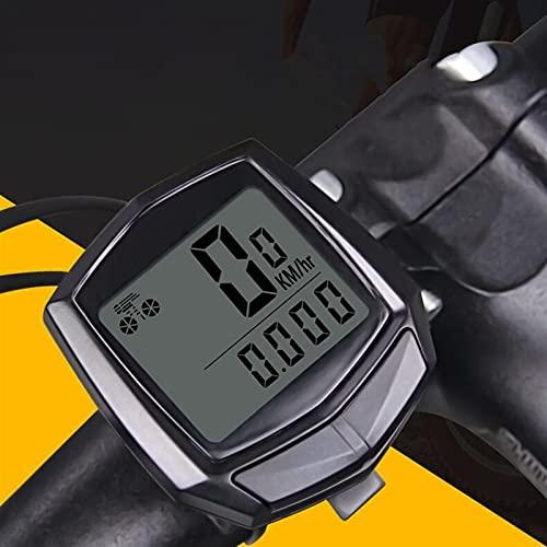 YZDKJ Computadora de Bicicletas Impermeables con Pantalla Digital LCD Bicycle Odometer Speedómetro Ciclismo Accesorios para Montar a Caballo