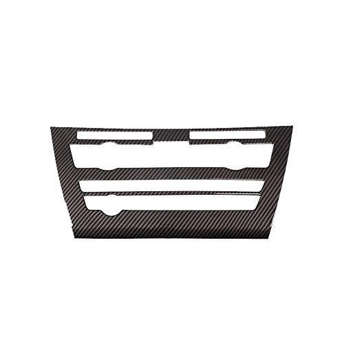 Bosses Coche de fibra de carbono textura interior de control central de aire acondicionado panel interruptor de volumen cubierta del marco de ajuste para BMW X5 X6 F15 F16 decoración del coche