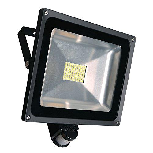 Greenmigo 80W SMD Fluter mit Bewegungsmelder LED Strahler Warmweiß warmweiss Licht IP65 Wasserdicht LED Lampe Wandleuchter Flulicht Flutbeleuchtung LED Gartenlampe Außenstahler