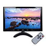 Monitor HD da 10.1 Pollici, Monitor per Videosorveglianza, Full HD Color 1024 * 600 Monitor IPS LED Monitor con HDMI/VGA/AV/USB Ports Input Car PC Monitor for Rear View, Home Security CCTV
