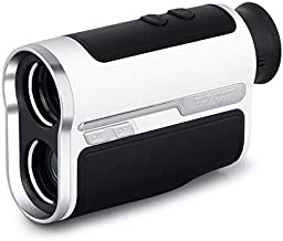 generetic PGM Golf Rangefinder, Laser Range Finder with Pulse Vibration and Physical Slope Switch, 7X Magnification, Continuous Scan, Flag Lock, Rechargeable Battery (1300 Yards)