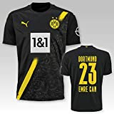 PUMA BVB Auswärtstrikot Erwachsen Saison 2020/21, Größe:L, Spielername:23 Emre Can