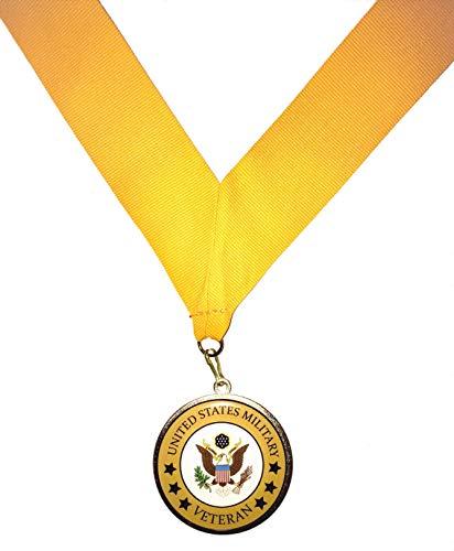 Veteran Medallion United States Military Ribbon, Eagle Crest