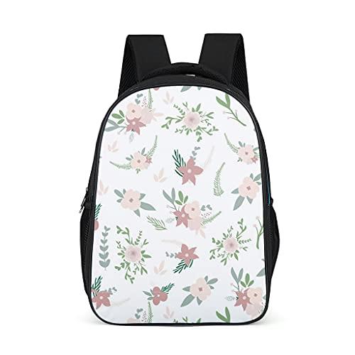 Mochila Flora Flores Plantas Patrón Bookbag Multifunción Daypack Casual Bolsa para Adolescentes Niño, color, talla Talla única