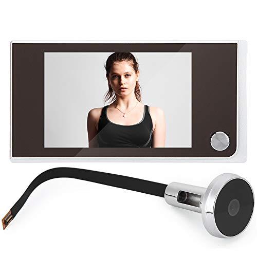 OKBY Mirilla Digital Electronica Cámara - Monitoreo De 3.5  LCD Visor 120 Grados Visual Fotos Electrónica Ojo Gato