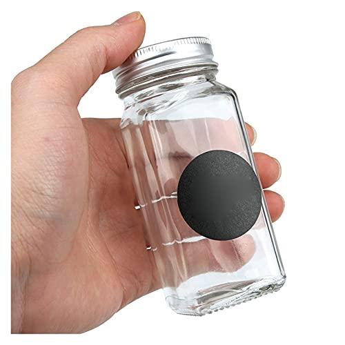Castor Set de tarro de especia de cristal transparente, organizador de especias Jarras de agitador, frasco de especias de vidrio, shakers de pimiento Condimentar la botella, accesorios de cocina Acces