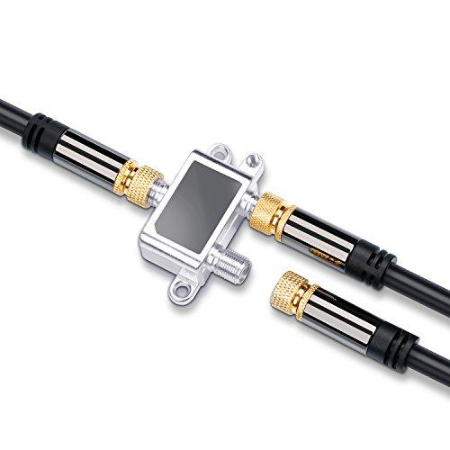 CSL - Répartiteur d'antennes Satellite TV Sat UHF VHF entièrement blindé 2 Voies 5-2400 MHz fréquence - repartiteur Distributeur 2 Way - Séparateur pour l'équipement Satellite TV DVB-S2 Radio FM
