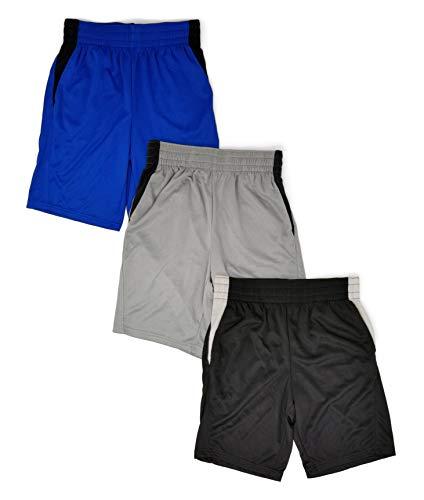 Andrew Scott - Pantalones cortos deportivos para baloncesto (3 unidades), 3 unidades -1 negro y 2 bolsas de agarre surtidas, X-Large