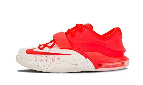 Nike Boys Kd VII (Gs) 'Christmas' Bright Crimson/ivory-emerald Grn Synthetic Size 4.0 Y