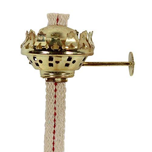 Heinze Brenner Messing mit Docht 11 mm breit, für Petroleumlampen TUBUS, KUBUS, Wood, Square