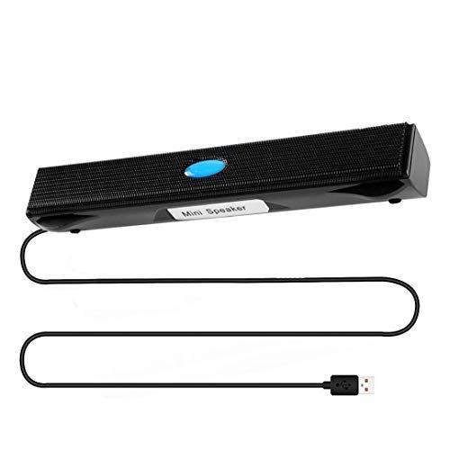 Haut-parleurs USB pour ordinateur, mini haut-parleurs d'ordinateur, mini barre de son portable avec stéréo surround 3D, double haut-parleurs