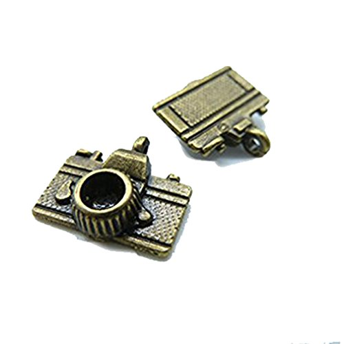 20 Stück 14 x 15 mm Antik Bronze Lovely Mini 3D Kamera Charms Anhänger c1770