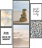 Papierschmiede® Mood-Poster Set Meditation | 6 Bilder als