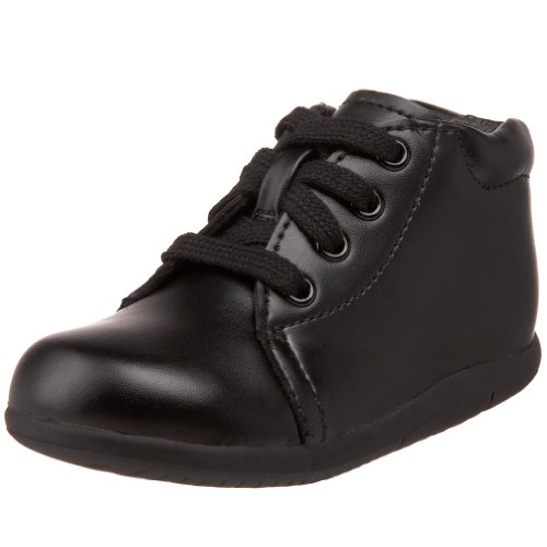 Stride Rite Baby Girls SRTech Kids' Elliot Sneaker, Black Leather, 6 Wide Infant