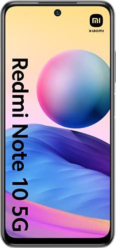 "Xiaomi Redmi Note 10 5G (Pantalla 6.5"" 90Hz AdaptiveSync DotDisplay, 4GB+64GB, Triple Cámara 48MP, MediaTek Dimensity 700, 5G, 5000mah con carga 22,5W) Plata [Versión Española]"