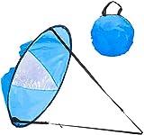 WINOMO Vela portatile da 106,7cm, vela pop-up, sottovento, vela per kayak, canoa, pagaia, windsurf (blu)