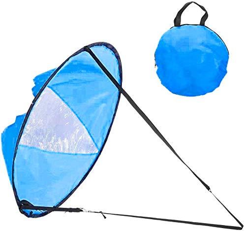 WINOMO Vela de viento portátil de 42 pulgadas para kayak, canoa, remo, windsurf (azul)