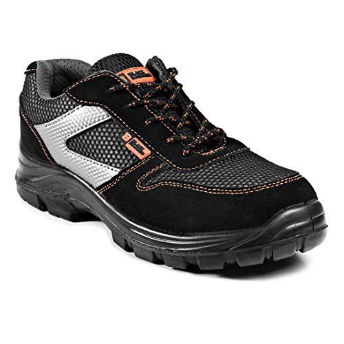 Calzado Deportivo Masculino de Seguridad con Puntera Ultraligera de Zapatos de Trabajo al Tobillo Kevlar S1P SRC 1997 Black Hammer Black Hammer (46 EU)