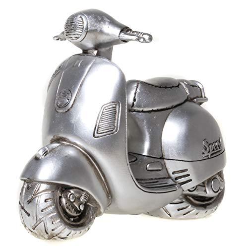 UDO Schmidt 89236 Spardose Motorroller Roller Antik Silber Sparschwein
