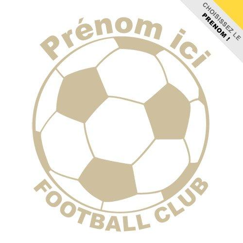 Sticker Ballon Football Club personnalisable Argent 40x50 cm