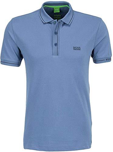 Hugo Boss Paule Moisture Manager Slim Fit Polo 50277329 para hombre, Open Blue 468., XX-Large