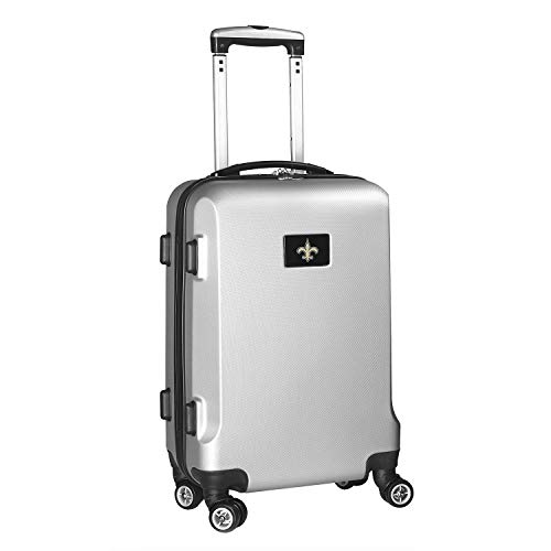 Denco NFL New Orleans Saints Carry-On Hardcase Luggage Spinner, Silver