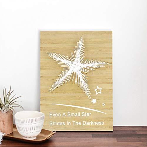 Patrón de novedad Adorno para el hogar No tóxico DIY Decoración del hogar Protección del medio ambiente para la decoración de la oficina(Wood color stars)