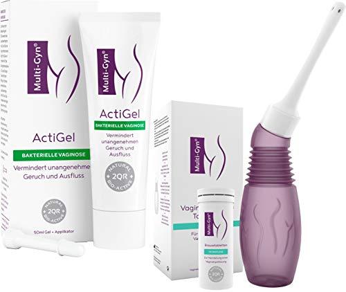 Multi-Gyn ActiGel 50 ml (x1)- zur Behandlung und Vorbeugung von bakterieller Vaginose & Vaginaldusche für eine optimale Vaginalhygiene 1 Applikator & 1 Röhrchen mit 10 Brausetabletten zur Spüllösungen