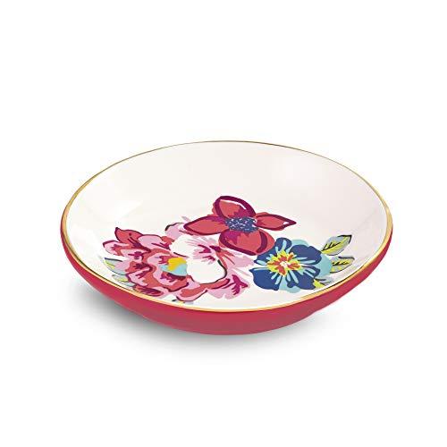 Vera Bradley Ceramic Ring Dish Pretty Posies One Size