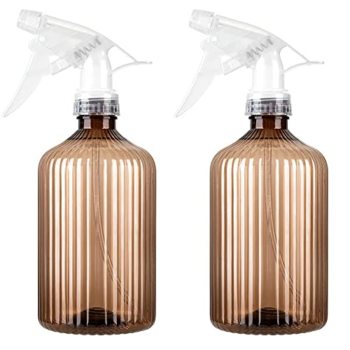 Nealan Botellas pequeñas en spray, Empty Spray Bottle for Plants, Hair, Cleaning (2, marrón)
