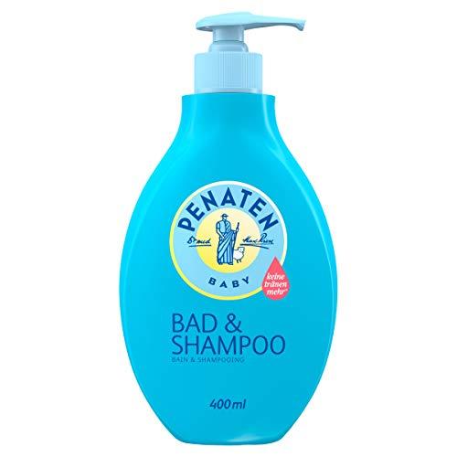 Penaten Bad & Shampoo, sanft reinigendes & pflegendes 2 in 1 Badezusatz Waschgel & Baby Shampoo (1 x 400 ml)