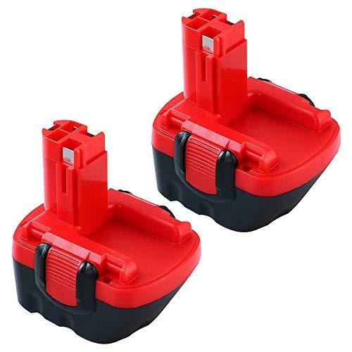 Topbatt 2X 3.0Ah Ni-MH für Bosch 12V Ersatzakku BAT043 BAT045 BAT120 PSB12VE-2 PSR12VE-2 PSR1200 PSR12-2 2607335249 2607335261 Akku-Bohrer Elektrowerkzeuge