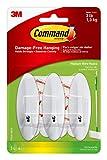 Command Wire Hooks, Indoor Use, Medium, 3-Hooks, 4-Strips (17068-HWES)