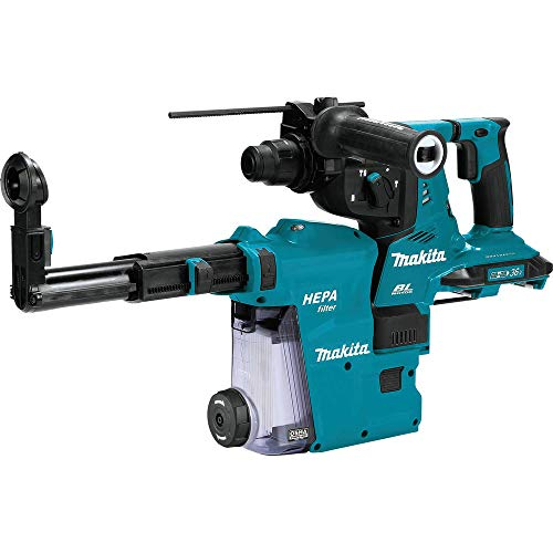 Makita XRH10ZW 18V X2 LXT (36V) Brushless Cordless 1-1/8' AVT Rotary Hammer, accepts SDS-PLUS bits w/Extractor, AFT, AWS Capable, Tool Only